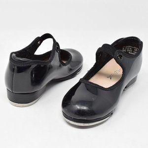 Capezio Tap Shoes Black Patent Leather Child 9.5